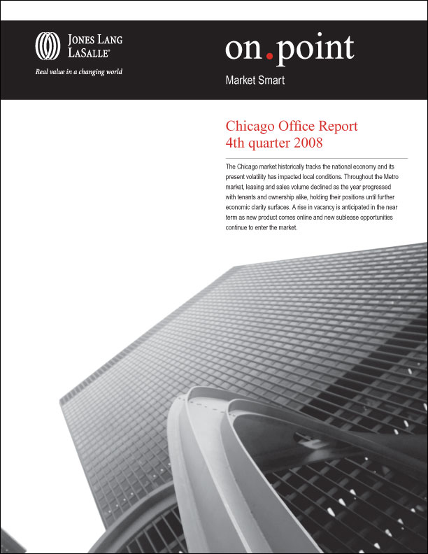 Sample: Chicago quarterly Market Report cover