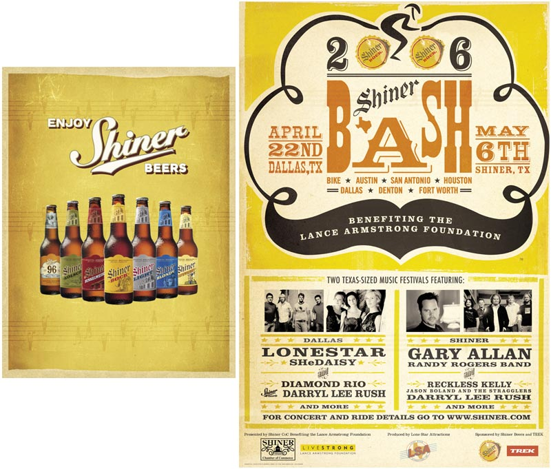 Sample: Shiner ad and point of sale display